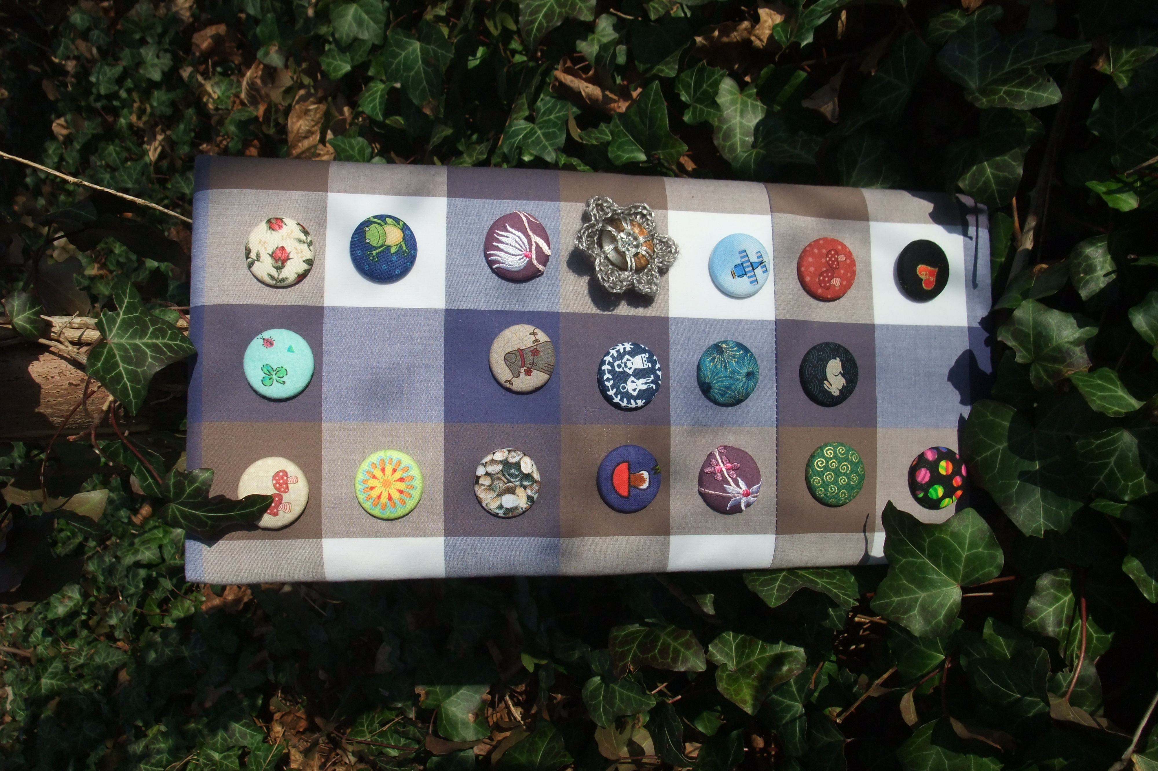 Buttons mit Nadel