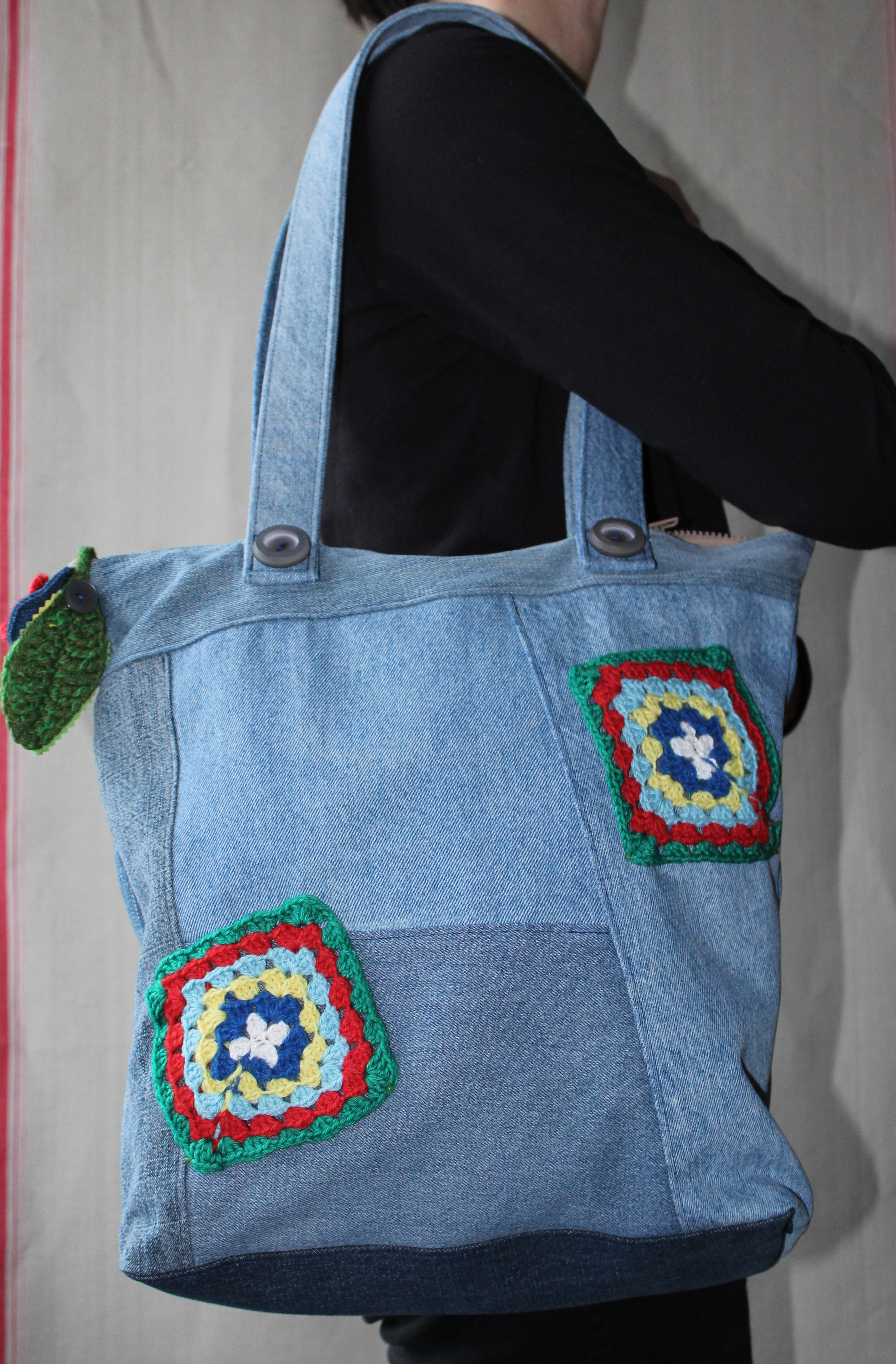 Tasche mit Grannysquares